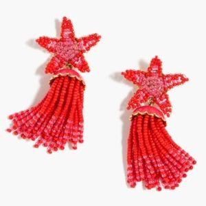 J. Crew beaded star earrings